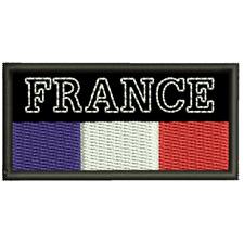 Ecusson Brodé France sur fond noire Ecusson Brodé France Thermocollant