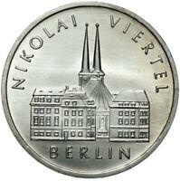 Gedenkmünze DDR - 5 Mark 1987 A - NIKOLAI VIERTEL - BERLIN - Stempelglanz UNC