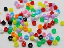 1000 Mixed Color Acrylic Tiny Barrel Pony Beads 6X4mm for Kids Kandi Craft