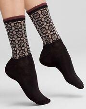 HUE U15211 WOW Openwork Ruffle Socks - Black w/Silver & Pink - $8.50