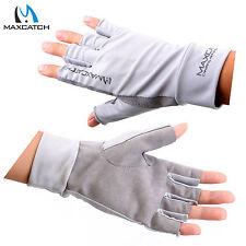 Maxcatch Anti-UV Gloves Fly Fishing UV Protection Gloves UPF50+ Half Finger L/XL