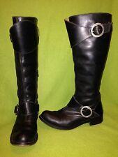Black Vintage Fluevog Double Strap Heidi Knee-High Adrian Boots 7
