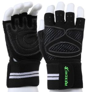 Men Women Weight-Lifting Gloves Bodybuilding Fitness Wrist Wrap Gym Training