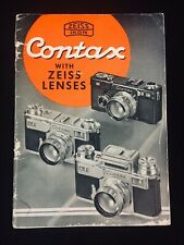 Vintage 1937 Zeiss Lenses Ikon Contax Camera Product Catalog Manual