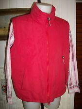 Veste blouson sans manches polyester rouge ANAPURNA grand S ou 50/52 zip brodé
