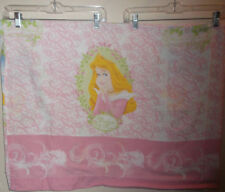 Disney Princess Twin Size Flat Sheet Set Fabric Material Bedding Quiltback