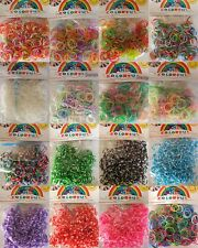 10 Packs 300pcs/pack Colorful Loom Bands Latex Free Rubber Bands S Clips Hooks
