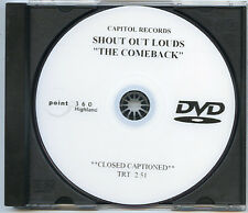 SHOUT OUT LOUDS The Comeback adv promo reel DVD 2003 Capitol