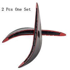 2 Pcs Black Car Bumper Anticollision Strips Protection Sticker For Holden Barina