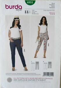 Burda Style 6951 Womens Plus Pants Sewing Pattern Sz 16-28