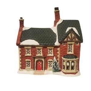1993 Vintage Christmas Valley Village Porcelain Building Guest House Lighted