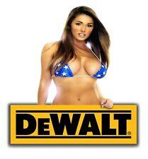 DEWALT TOOLS STICKER DECAL STRIPE SEXY GIRL MECHANIC GLOSSY LABEL TOOL BOX USA