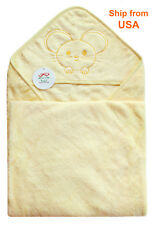 """Bamboo Baby Bath Towel with Hood,Super Soft,35x35"""",Perfect Gift for Baby Toddler"""