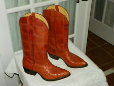 Nocona Full Quill Ostrich & Patchwork Cowboy Western  Boots Men's size 7 EE USA