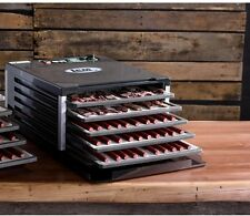 Square 5-Tier Food Tray Dehydrator Beef Jerky Maker Fruit Drying Air Machine New
