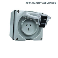 10A AMP Single Phase 3 Pin Socket Outlet for Caravan IP66 Waterproof Power Point