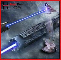 Most Powerful 100000m 450nm High Power Blue Laser Pointers Flashlight Burn