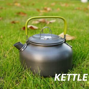 Outdoor Mini 0.8 Liters Kettle Camping Picnic Water Pot Teapot Hiking Tableware