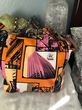 RARE COACH Large Bonnie Cashin Parker  NYC Multi-Color Nylon Tote #13433
