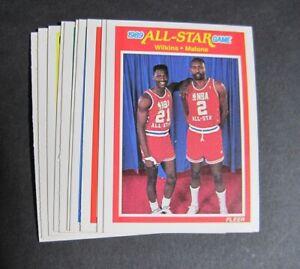 1989-90 Fleer Basketball Lot of 11 - Mullin, Malone, Worthy +