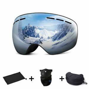 Snowboard Goggles Magnetic Double Layers Lens Anti Fog UV400 Eyewear Ski Glasse