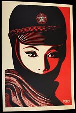 SHEPARD FAIREY ♦ MUJER FATAL ♦ GROSSE LITHOGRAPHIE SIGNIERT OBEY GIANT MINT