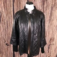 Isaac Mizrahi Leather Jacket Limited Edition for Chevy Malibu Black Size S New