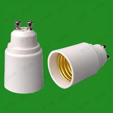 20x Gu10 A Rosca Edison E27 es Bombilla Socket Lámpara Adaptador Convertidor Titular