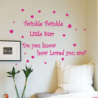 Twinkle Twinkle Little Star Children Wall Art Sticker Nursery Kids Wall Decals