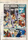 1983 Zeck Captain America 288 Marvel Comics color guide artwork page 17:Deathlok