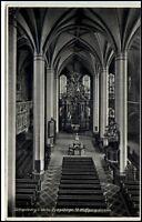 Schneeberg Sachsen alte AK 1936 gelaufen Innenansicht St. Wolfgangs Kirche