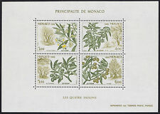 1988 MONACO BLOC N°43** BF SAISONS Fruits Olive Olivier,  olive tree Sheet MNH
