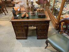 Solid Oak Vintage Victorian English Desk