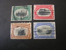 *UNITED STATES, SCOTT # 294-297(4), 1901 PAN-AMERICAN EXPOSITION ISSUE USED
