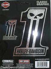 harley davidson motorcycle HD #1 decal sticker chrome willie g SKULL logo emblem