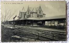 1908 Postcard W M Railroad Train Station Depot York Pennsylvania #2Nm