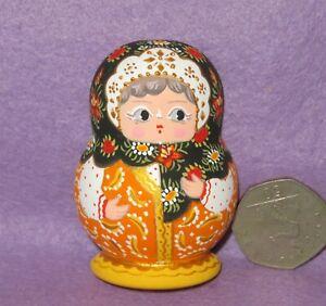 Matryoshka Fridge Magnet Russian doll HAND PAINTED Traditional MITINA signed ART