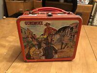 Gunsmoke Original Tin Lunchbox Vintage Antique American TV Toy Lunch Box