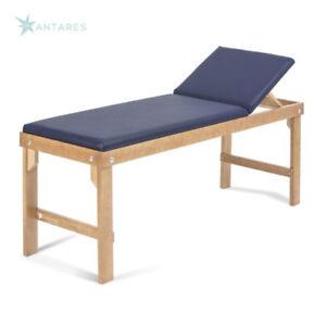 Lettino Da Visita Medica E Trattamenti - struttura in legno schienale regolabile