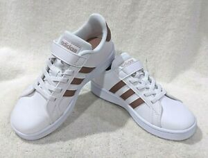 adidas Grand Court C White/Rose Gold Girl's Sneakers - Assorted Sizes NWB EF0107