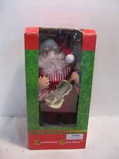 Traditional Christmas  Santa Claus Holding Guitar, Motion and Sound In Box
