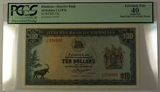 1.3.1976 Rhodesia $10 Reserve Bank Note SCWPM# 37a PCGS EF-40 Apparent (B)