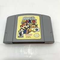 Paper Mario (Nintendo 64, 2001) Cleaned / Tested / Authentic N64