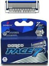 Dorco Pace 7 Seven Blade Razor Shaver System Refill 4 Cartridges FAST SHIPPING