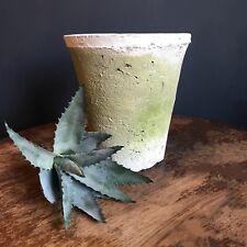 Tall Invecchiato Bianco Vaso di pietra effetto rustico Moss COPERCHIO GRANDE VASO/fioriera