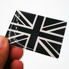 Union Jack Badge Gel Finish 1 Ps Sticker Silver Black Universal Fit UK Flag S223