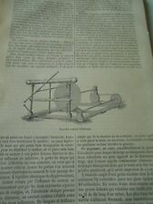 Nouvelle Machine électrique de M. Bertsch Gravure Antique Print 1867