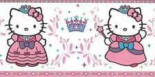 Wallpaper Border Hello Kitty Princess Pink Purple Green and Blue
