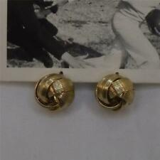 ANTHROPOLOGIE POLISHED GOLD WOVEN KNOT HUGGER STATEMENT EARRINGS FREE SHIP ND