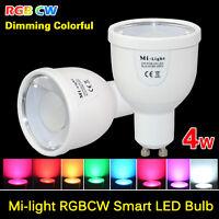 Smart E27 GU10 RGB Led Bulb MiLight Dimmable 4W Wifi Light  2.5G Lamp AC85-265V